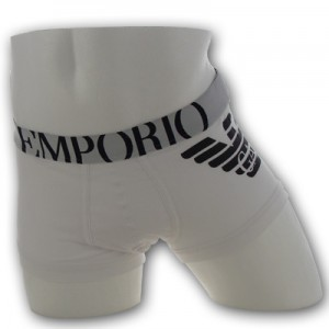 Emporio Armani - Eagle Stretch Trunk - Wit