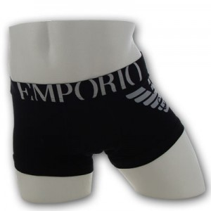 Emporio Armani - Eagle Stretch Trunk - Black