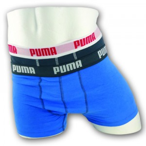 Puma Basis Boxershorts - 2pack - Blauw