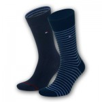 Tommy Hilfiger socks - Midnight blue stripe - 2pack