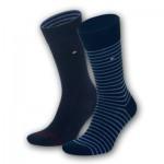 Tommy Hilfiger sokken - Middernacht blauwe streep - 2pack