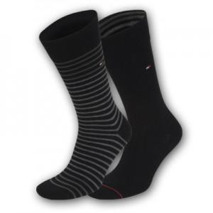 Tommy Hilfiger sokken - zwarte streep - 2pack