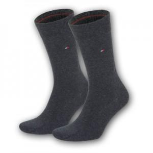 Tommy Hilfiger sokken - basis anthracite - 2pack